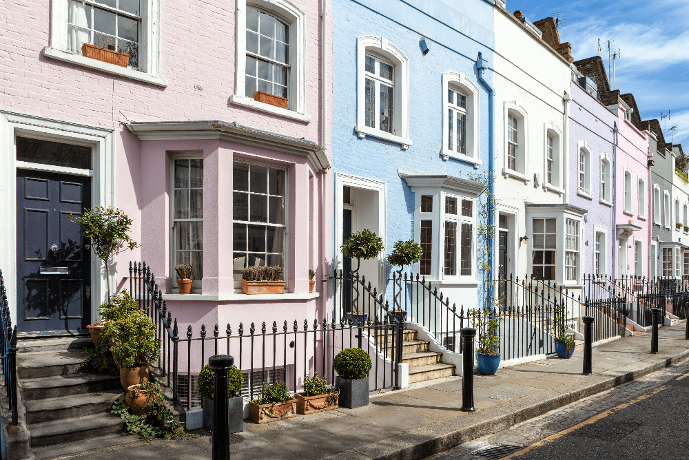 Colourful house fronts - UK Property Cash Buyers