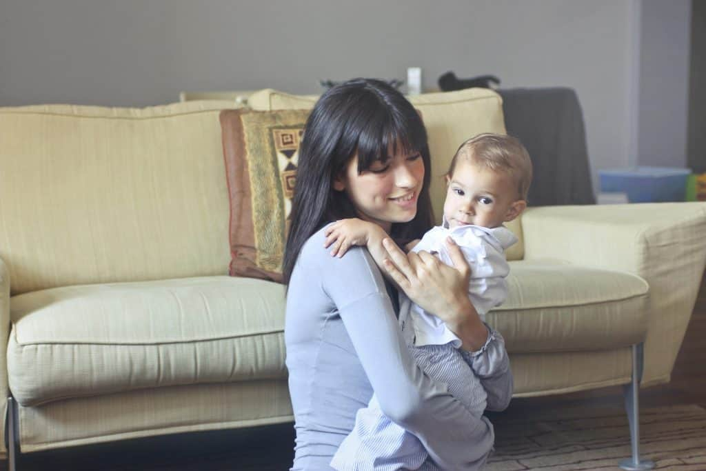 A Mother and her baby - UK Property Cash Buyers